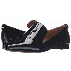 NEW Calvin Klein Black Patent Leather Flat Size 11